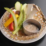 焼肉居酒屋 マルウシミート - 季節の焼き野菜5種盛り合わせ  ¥840-