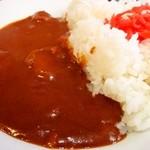 大沢食堂 - 極辛カレーです。紅い~