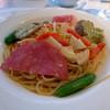 カフェレストランケイズ - 料理写真:ランチパスタ_柔らかく煮込んだ豚バラ肉の香草パン粉焼き