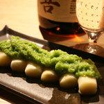 ノ貫 - 料理写真:ホワイトアスパラグリーンアスパラ掛け。野菜が美味い。