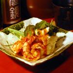 ずず - 海老のポテトサラダ~伊勢海老のソース~ 650円