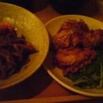 ナチュラルフードクッキング - 夜の定食の惣菜2種、揚げ物「くるま麩のカツ」