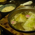 うまかぁ~黒豚と肴料理 まん - 豚しゃぶの野菜