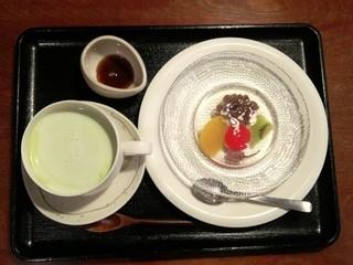 こぐま - 抹茶ラテ、あんみつ玉