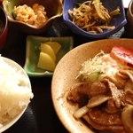 喜楽屋 - 料理写真:豚生姜焼き定食