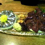 薩摩 - きびなごと鶏レバ刺身