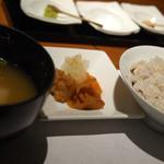 茅乃舎 - ご飯、味噌汁、香の物