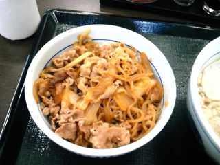 なか卯 - 和風牛丼290円