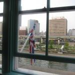 北浜レトロ - 2Fの窓から堂島川が見える