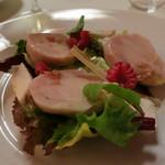 リストランテ ラ・バリック トウキョウ - うさぎの背肉のインサラータ ロビオラとフランボワーズのソース