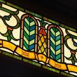 おかだ紅雪庭 - 内観写真:正面玄関、ヨーロッパ製のステンドグラス