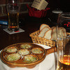 Ninjin - 料理写真:生ビール、シーフードのつぼ焼きを注文