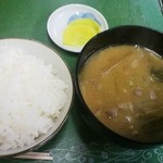 五代目食堂 - 豚汁定食¥600(あとはおかず)