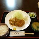 洋風食彩旬香亭 - 豚バラ肉の生姜焼+メンチ(ランチ)