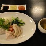 中国広東料理 えん - 海南鶏飯(シンガポール・チキンライス)950円