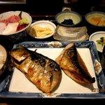 もてなしや - 特選もてなし焼き魚御膳(鯖)!(2012,04/29)
