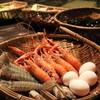 地獄蒸し屋台 - 料理写真:蒸し前、アカザエビ