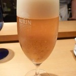 Grillかわむら - 先ずはビールから。