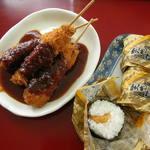 きしめんの店 石波志 - 料理写真:味噌串カツセット