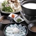 銀座 竹の庵 - 夏限定の天然極上タコの豆乳しゃぶしゃぶ~特製黒胡麻ポン酢で~