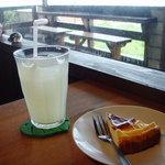carib cafe - チーズタルト・自家製ジンジャエール
