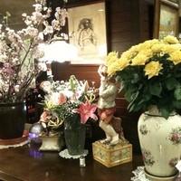 朝日珈琲サロン - 季節の花や名画の数々もお楽しみいただける地下の喫茶店