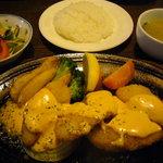 紅屋 - 2009.3 日替わりランチ~「魚のフライ チリマヨソース」