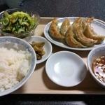 王芳 - 鍋貼児焼白飯(焼ギョーズライス)1,050円