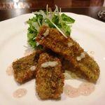 シェ・モリタ - アナゴのフリット・・カラッと揚げたアナゴは香ばしく美味しいですね。タルタルソースで頂きます。