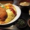 みはる食堂 - 料理写真:オムライス と とんかつ ¥880
