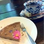 カフェ ビーンズ - 黒糖のベイクドチーズケーキ