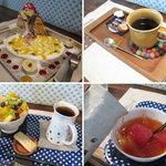 cafe zakka  hinatabocco - ミルクレープ・深入りコーヒー・つめたいフルーツ紅茶(2012.5.12撮影)