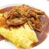 Oval - 料理写真:寿惠卵のクイーンオムレット 鶏のドミグラスソースで