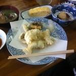 朝日亭 - 日替わり定食 メインは鱧の天ぷら(4月某日)