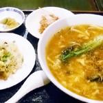 健康中華庵 青蓮 - トマト酸辣広東麺ランチセット 850円