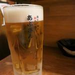 あぶさん - まずは、ビールで