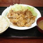 男の厨房 - 焼肉定食¥750みそ汁付き