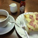 喫茶なつめ - 「喫茶なつめ」 ベーコンチーズトーストセット 890円