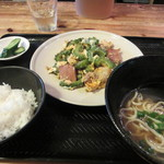 まるやす - ゴーヤチャンプル定食 \800