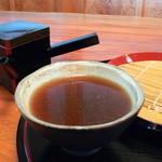 蕎麦きり 山都 - 〆の蕎麦湯
