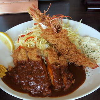 とんかつ ひろ喜 - 料理写真:特選ロースとんかつ&海老フライ定食