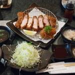 とんかつ マンジェ - 上ロース豚カツ 60匁 定食