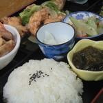 グラスマーブル - 料理写真:白身魚の甘酢あんかけ定食
