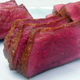 スタミナ苑 - 料理写真:「ハツたたき」は数量限定の超レアステーキです。