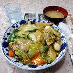 金子屋 - 中華丼大盛り