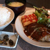 バードランド - 料理写真:デミグラスハンバーグ定食 850円
