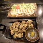 日南館 - じっとこ焼きと地鶏のたたき
