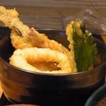 葱坊主 - ミニ天丼