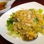 紅蓉軒 - ズワイ蟹とレタスの炒飯&スープ