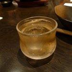 銀座 竹の庵 - 食前酒 酒蔵で漬けた梅酒